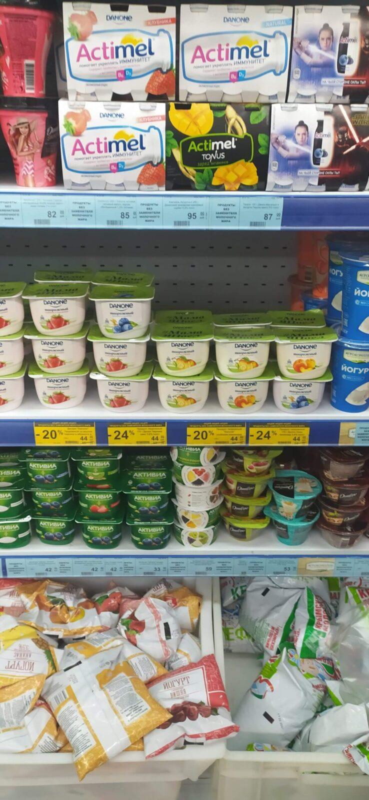 цены на кисломолочные продукты