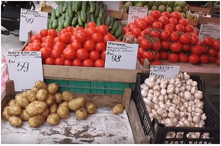 Овощи в Ялте