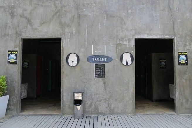 Вид на туалет
