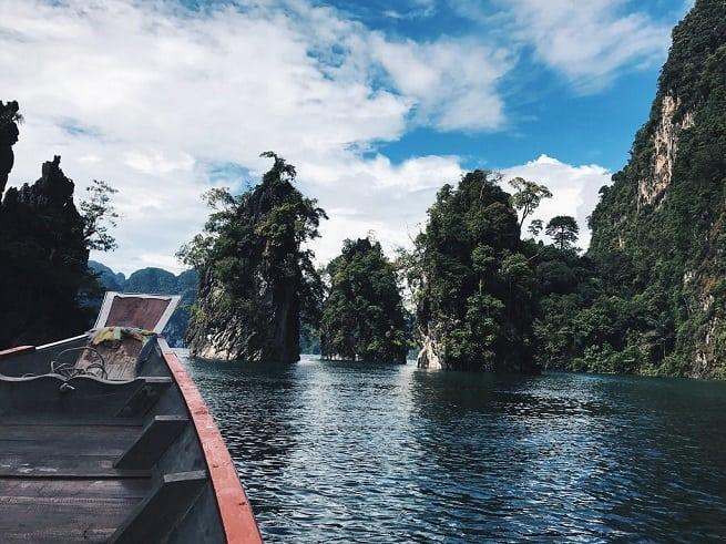 На лодке к островкам