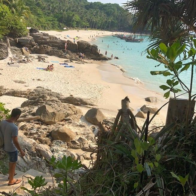 Пляж сбоку