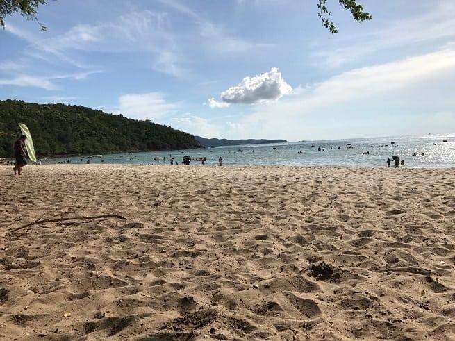 Вид на песок
