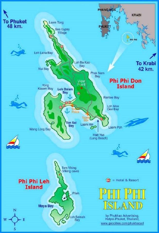 Карта с пляжами