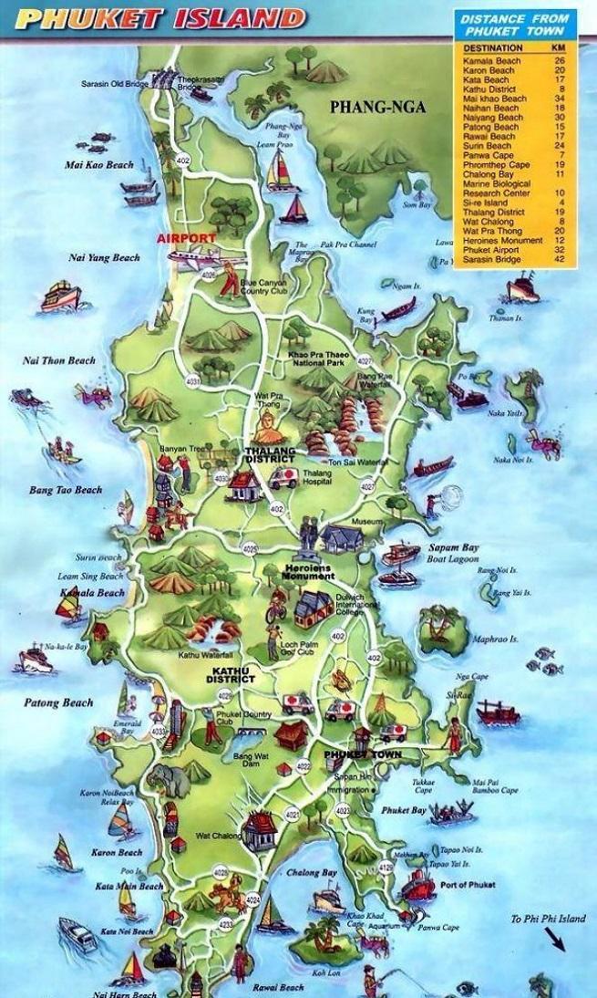Достопримечательности на карте