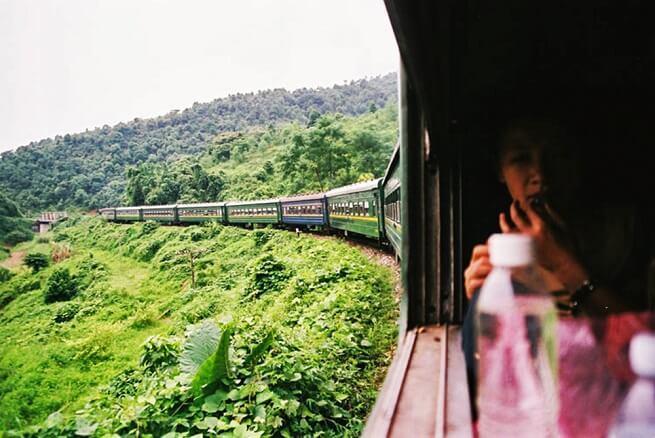 Из окна поезда вид потрясающий