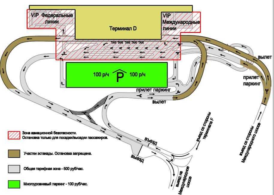 Парковка в терминале D