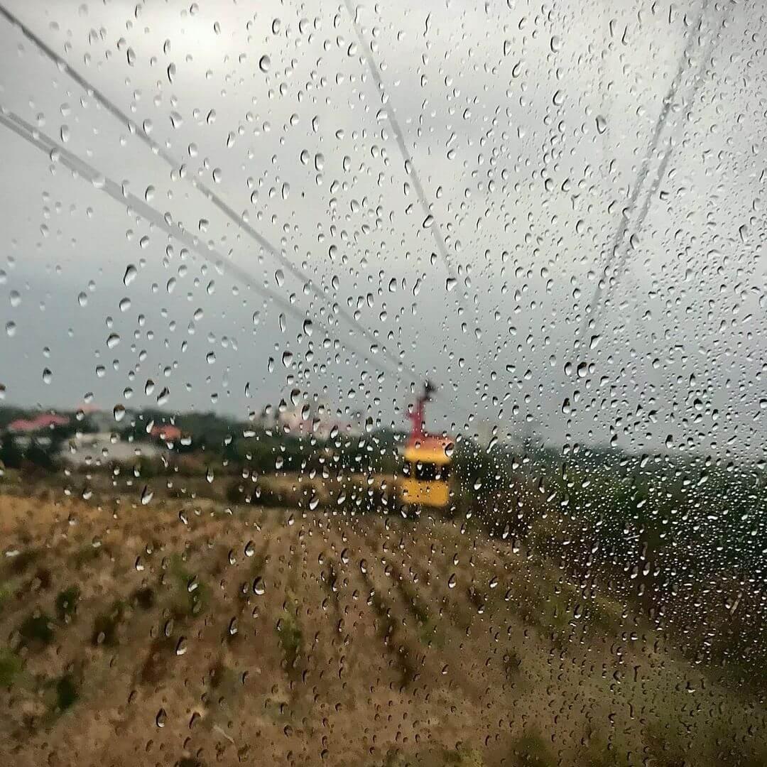 В дождь вид плохой