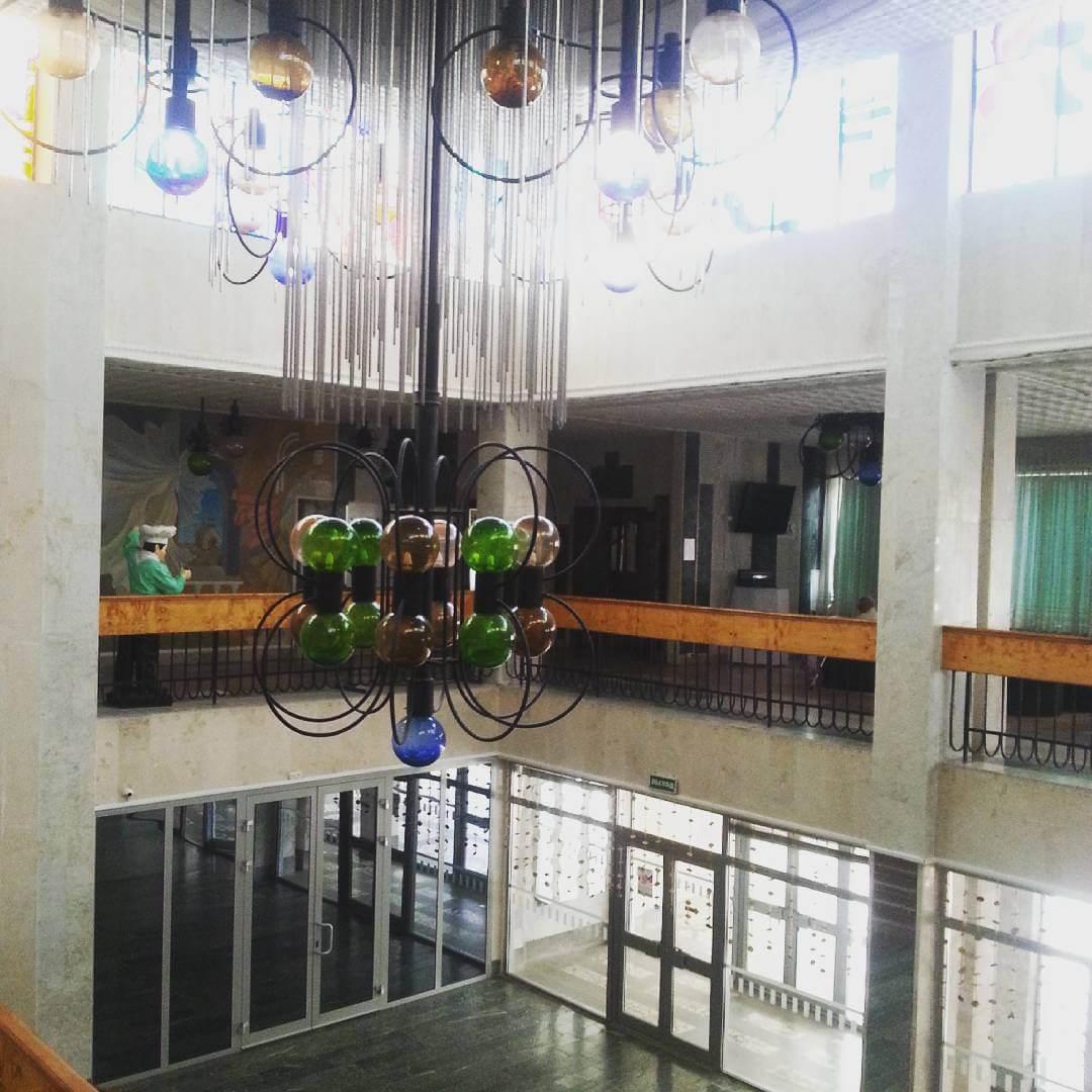 Внутри санатория
