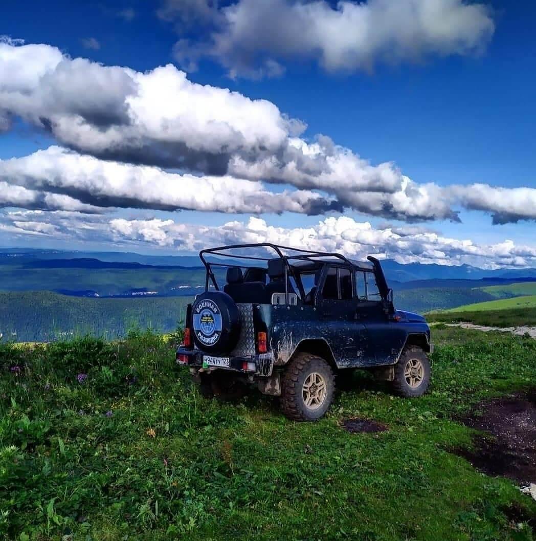 УАЗ в горах