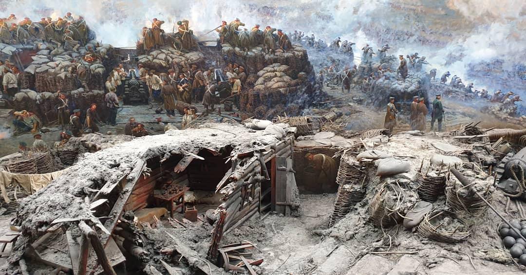 Панорама оборона Севастополя 1854-1855 годах